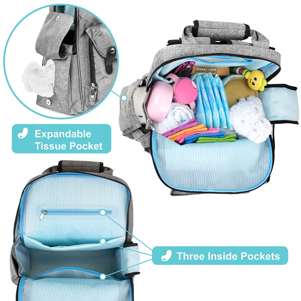 Diaper Bag Backpack Large Multifunctional Travel With Changing Pad Nappy Bag Walmart Com Walmart Com