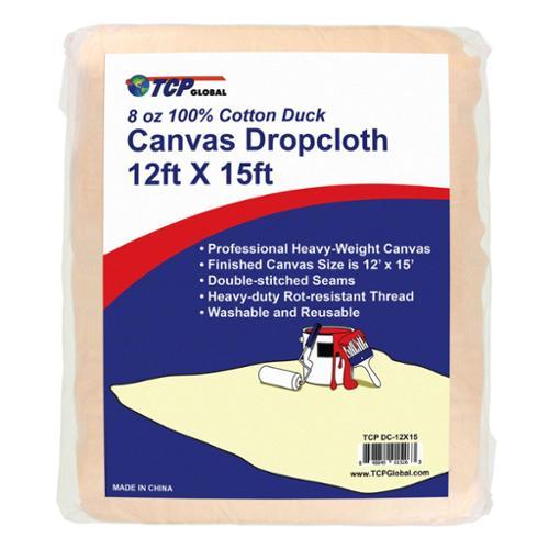12' x15' Extra Large Heavyweight Canvas Drop Cloth. 8 oz 100% Cotton Duck