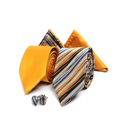 - Men's Watercolor Stripes Matching Ties, Handkerchiefs, and Cufflinks Set