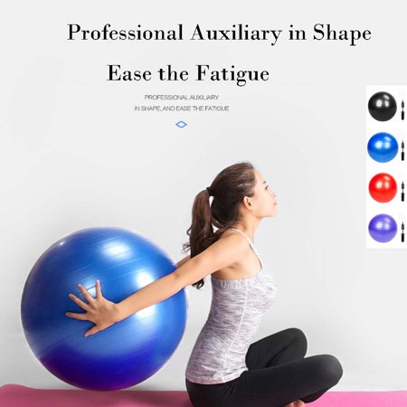 "33"" Exercise Ball, Exercise Workout Yoga Ball for Yoga Fitness Pilates Sculpting, Blue Smooth Surface 3.5lb Gym/Household Explosion-Proof Thicken Yoga Ball"