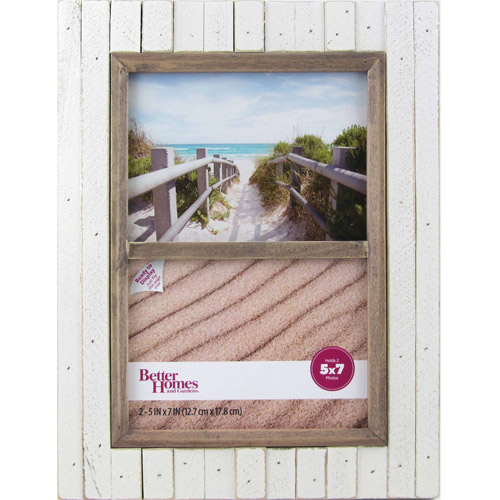 Better Homes and Gardens Oracoke 2-Opening Collage Frame, Cream
