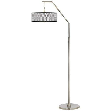 giclee glow black diamonds giclee shade arc floor lamp. Black Bedroom Furniture Sets. Home Design Ideas