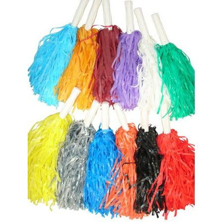 Pom-Pom Assortment (1 dz), 1 Dozen plastic pom-pom's per set By Fun Express - Cheerleader Supplies