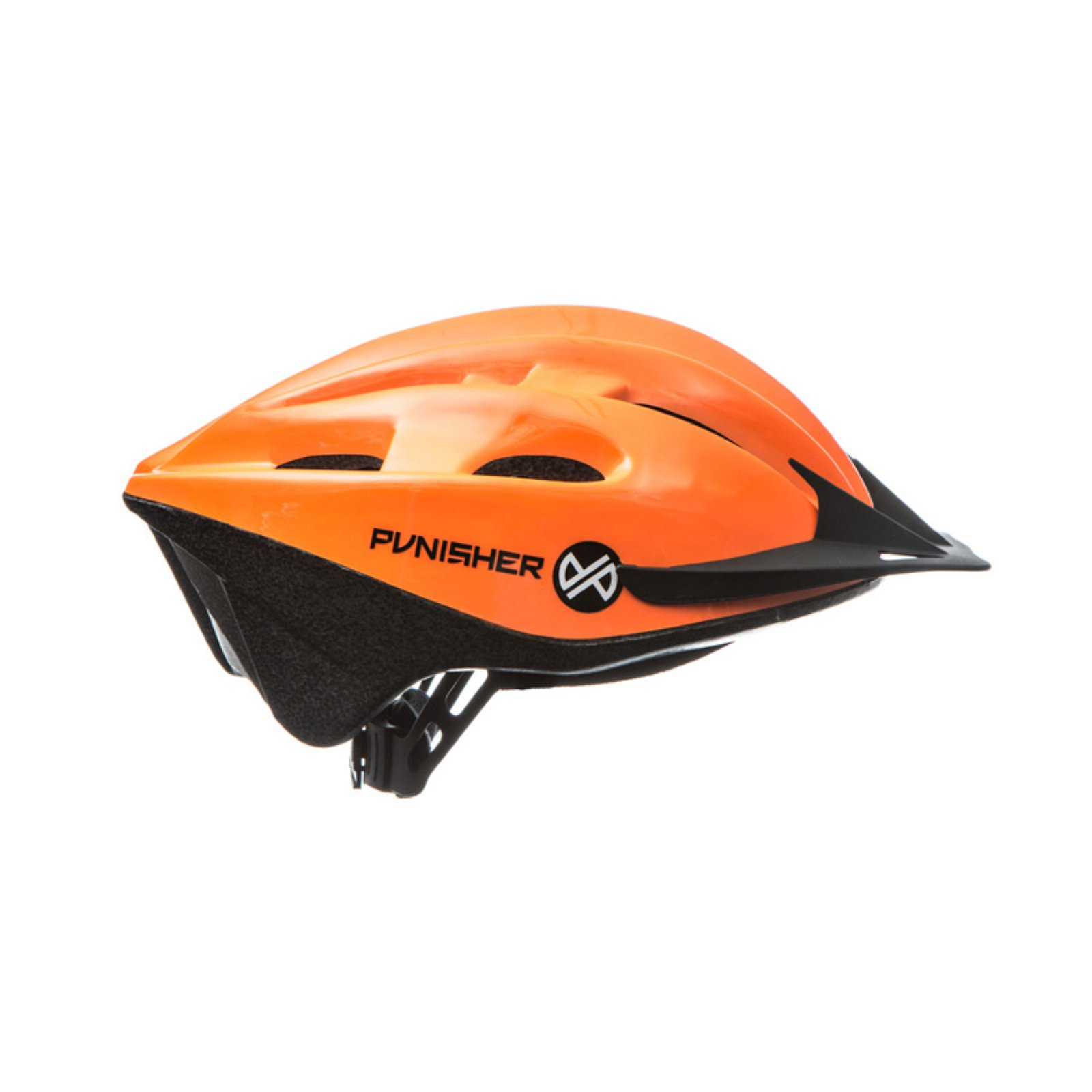 Punisher 18-Vent Adult Cycling Helmet, Bright Orange by Punisher Skateboards