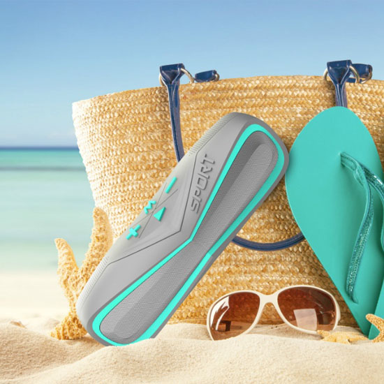 Weatherproof Outdoor Bluetooth Speaker for Poolside, Beach and Travel