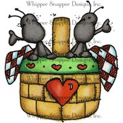 "Whipper Snapper Cling Stamp 4""X6""-Ant In Picnic Basket"
