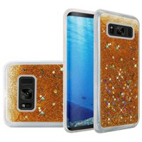 For Galaxy S8 case by Insten Luxury Quicksand Glitter Liquid Floating Sparkle Bling Fashion Phone Case Cover for Samsung Galaxy S8