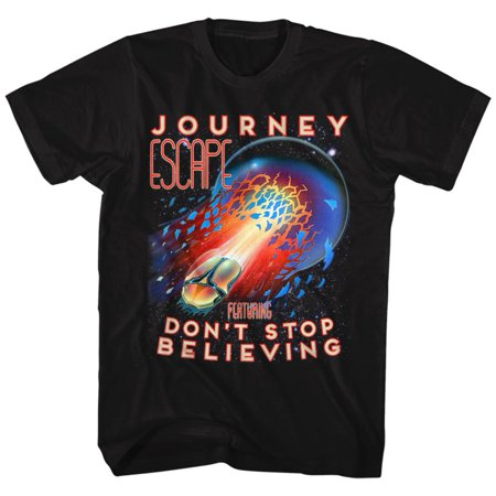 Journey Escape Don't Stop Believing Guitar Cover Rock Band Adult T-Shirt (Pine Mountain Railroad Don T Stop Believing)