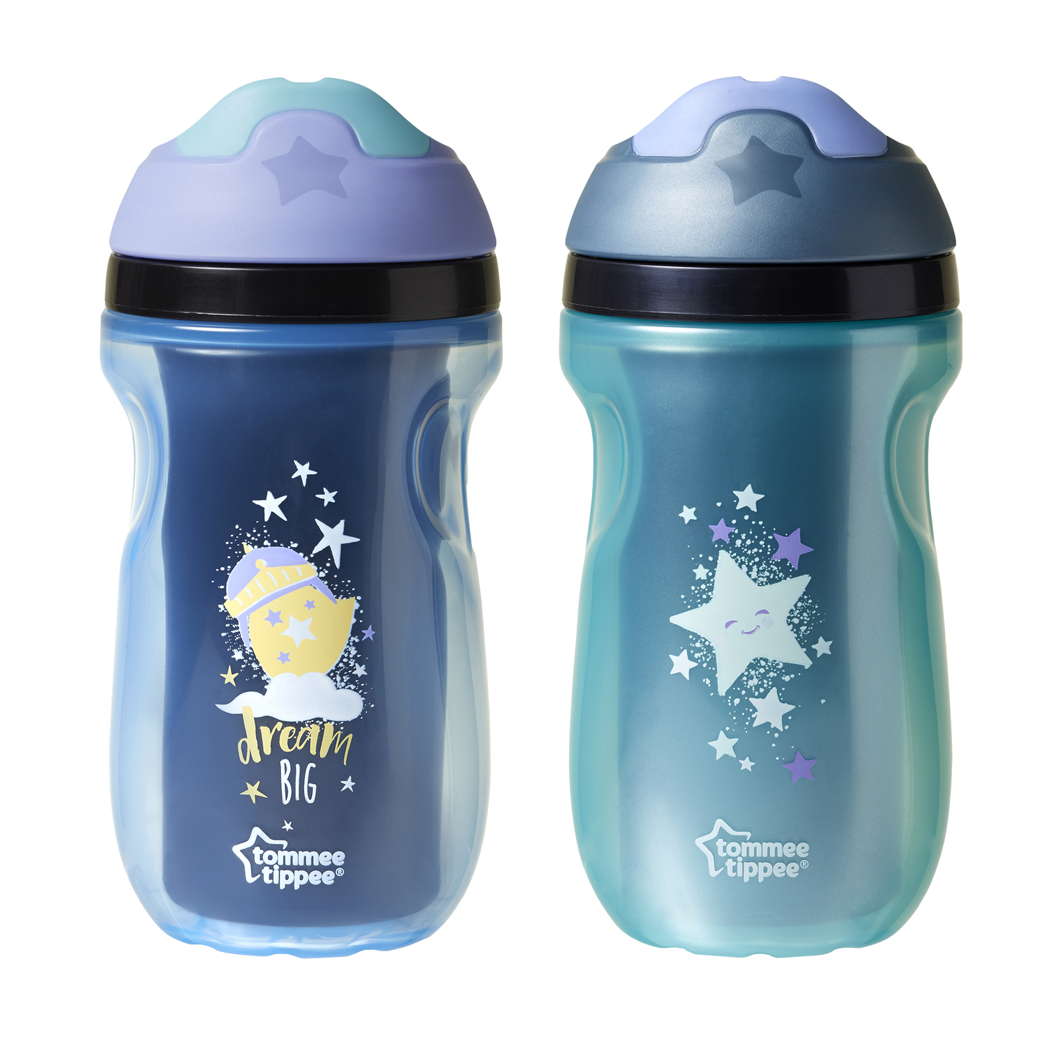 Non-Spill Toddlers Explora Tommee Tippee Insulated Active Soft Straw Cup 12m
