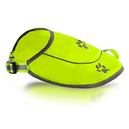 Dog Safety Reflective VestDog Safety Reflective Vest -Hunting Waterproof Yellow Vest for Best Visibility at Day and Night with Claps, Connectors Comfortable Adjustable Size Size M - Yellow