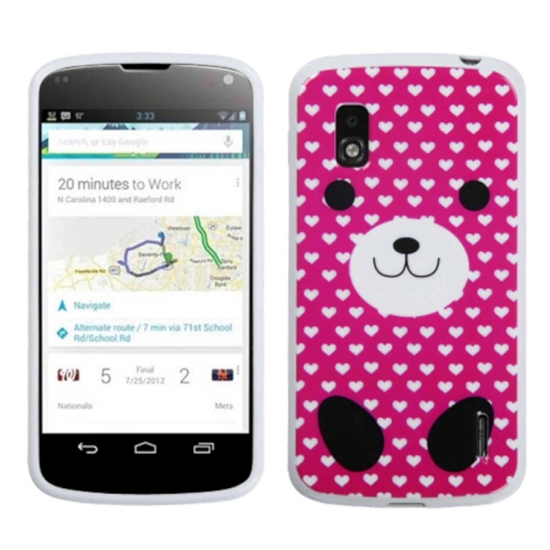Insten Dog Love Candy Skin Case for LG: E960 (Nexus 4)