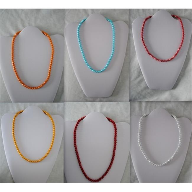 Bulk Buys Magnetic Necklace with Round Color Beads - Case of 48