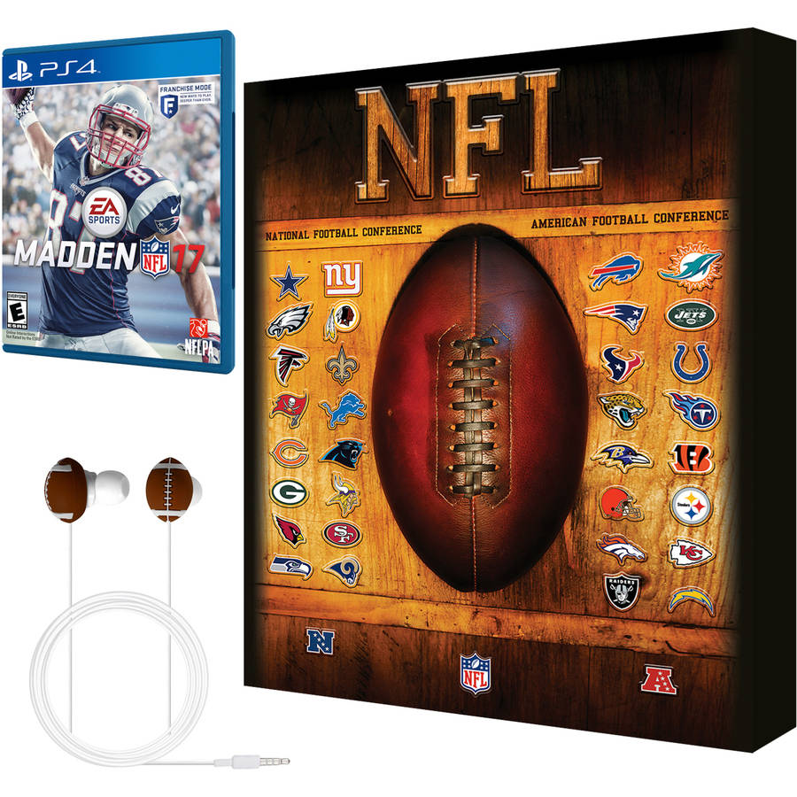 Madden NFL 17 Earbud and Wall Art Bundle - Walmart Exclusive (PS4)