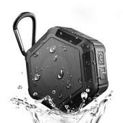 Outdoor Waterproof h Shower Speaker,Mini Portable Wireless Speaker - Sport Shower Stereo Speakers NFC Handsfree for Smart Phones Black