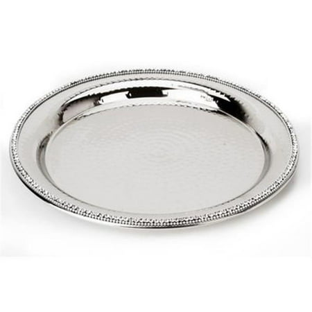 Classic Touch d-cor SDP740 Round Tray with Stones