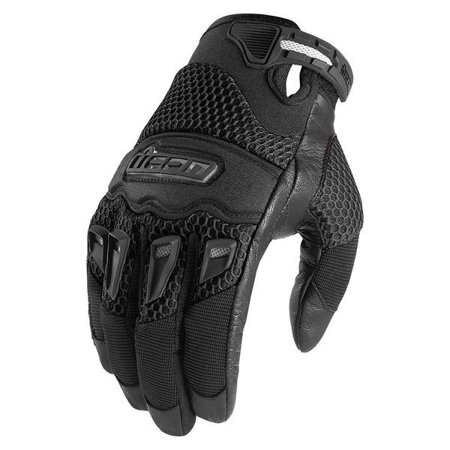 ICON Twenty-Niner Men's Motorcycle Gloves Black All (Icon Super Duty Motorcycle Glove)