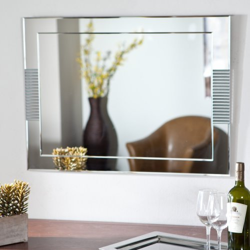 Decor Wonderland SSM526 Francisca Large Frameless Wall Mirror