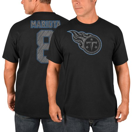 Marcus Mariota Tennessee Titans Majestic Primetime Player Name & Number T-Shirt - - Tennessee Titans Party Supplies