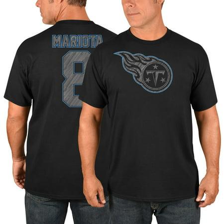 Marcus Mariota Tennessee Titans Majestic Primetime Player Name & Number T-Shirt - Black