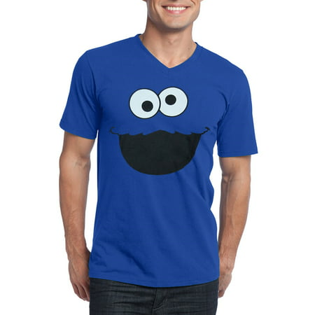 Cookie Monster Shirts For Adults (Sesame Street Cookie Monster Face V-Neck Adult)