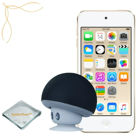Apple iPod Touch Gold 32GB (6th Generation) - Mushroom Bluetooth Wireless Speaker/iPod Stand - Quality Photo Cloth (Ipod Touch 32 Silver)
