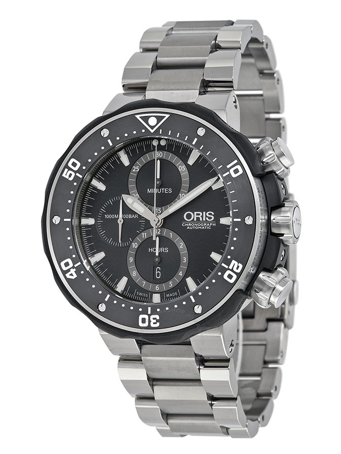 ProDiver Chronograph Black Dial Titanium Mens Watch 01 774 7683 7154-Set