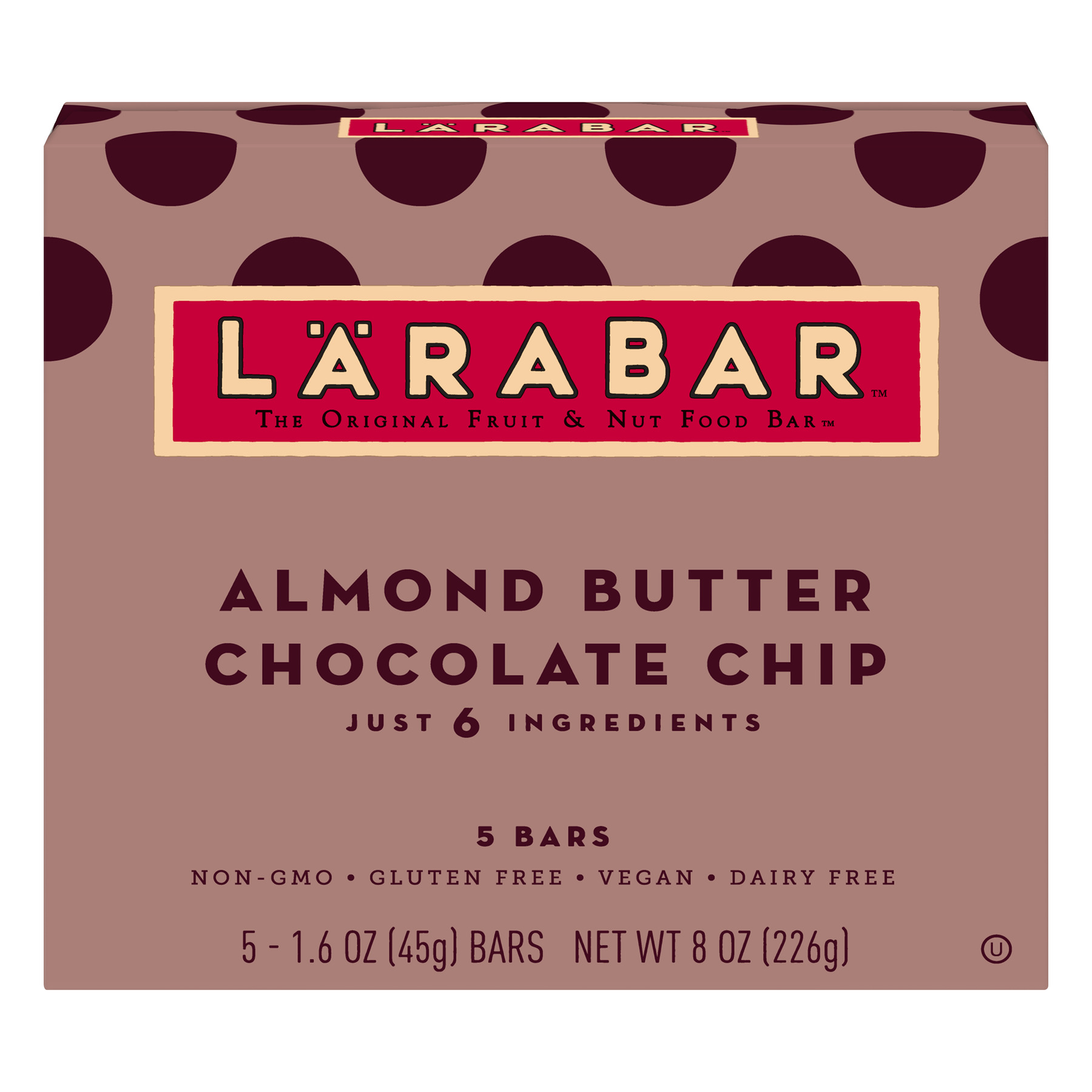 Larabar Almond Butter Chocolate Chip Bars, Gluten Free, 5 ct Box, 8 oz