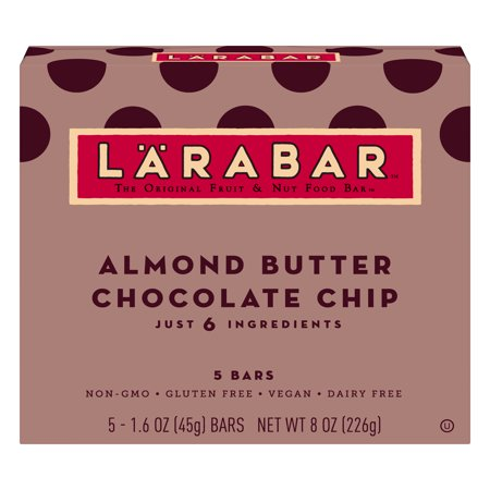 Gluten Free Chocolate (Larabar Almond Butter Chocolate Chip Bars, Gluten Free, 5 ct Box, 8 oz)
