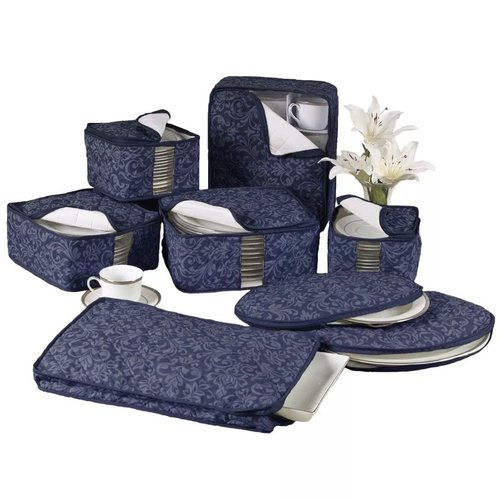 One Allium Way Damask China 8 Piece Dinnerware Storage Set