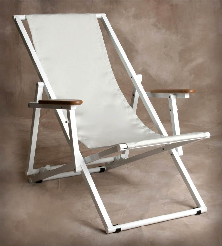 Silver Key West Lounge Chair w Arms
