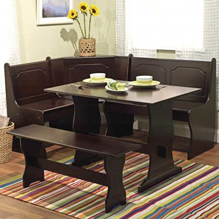 Excellent Nook Table Breakfast Bench Corner Dining Set 3 Piece Kitchen Onthecornerstone Fun Painted Chair Ideas Images Onthecornerstoneorg