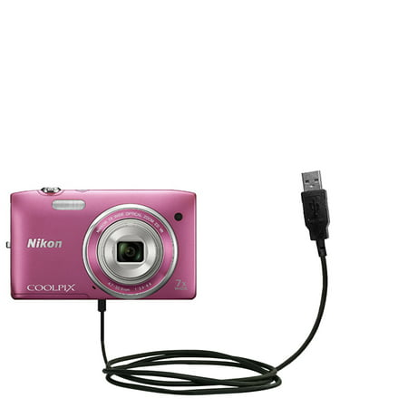Classic Straight USB Cable suitable for the Nikon Coolpix S3500 with Power Hot Sync and Charge Capabilities