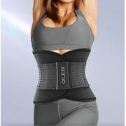 Seenda Waist Trainer Belt, Belt Slimmer Body Shaper for Women & Men, Dual Adjustable Waist Cincher Medium Size Cincher Thin and Light Sports Trimmer for Indoor, Outdoor