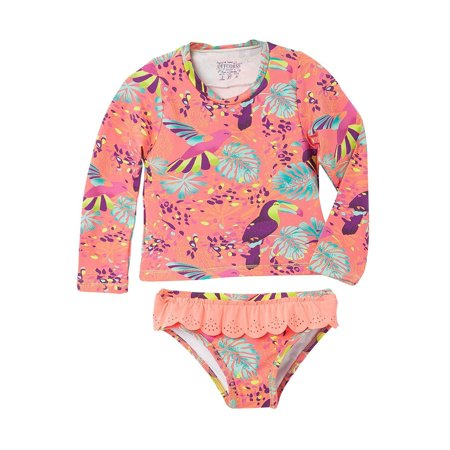 (OFFCORSS Toddler Girl Long Sleeve Tankini Two Piece Swimsuit | Vestido de Baño)