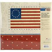 "MBI American Flag Postbound Album, 12"" x 12"""
