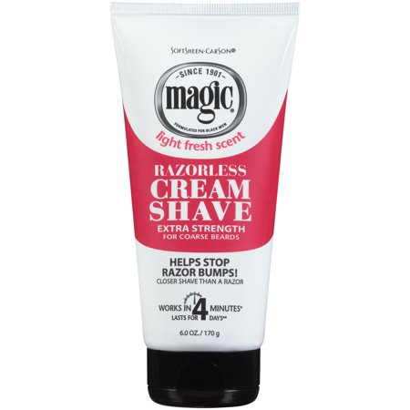 SoftSheen-Carson Magic Shave Razorless Cream Shave, Extra Strength Depilatory for Coarse Beards, 6oz