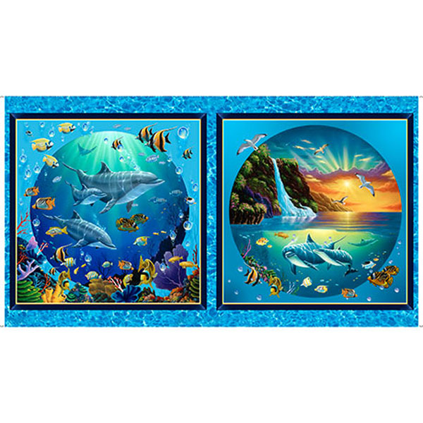 """Quilting Treasures Digital Artworks Viii Under The Sea Picture Patches 24"""" Panel"""