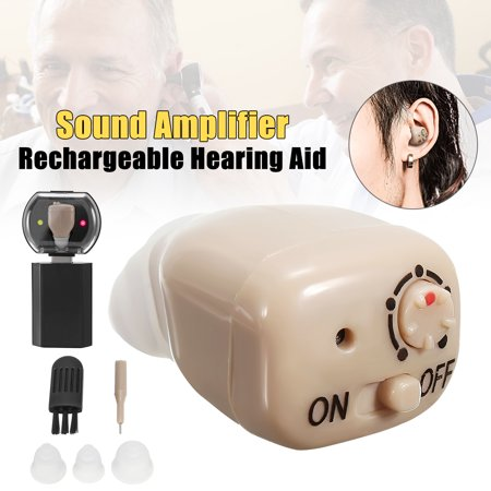 2019 NEW Rechargeable Mini In Ear Hearing Aids Adjustable Tone In visible Digital Sound Amplifier Kit Volume Voice Assisted Listening Device Father's Day (Rechargeable Hearing Aid)