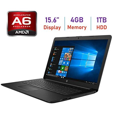 2019 HP Flagship 15.6-inch HD WLED-Backlit Laptop PC, AMD Dual-Core A6-9225 2.6GHz Processor, 4GB DDR4 SDRAM, 1TB HDD,