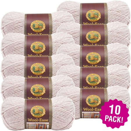 Lion Brand Wool-Ease Yarn - Blush Heather, Multipack of 10