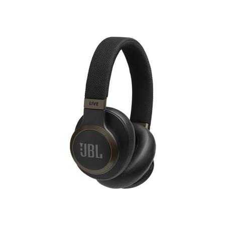 JBL LIVE 650BTNC Wireless Over-Ear Noise-Cancelling Headphones with Voice Control (Black)