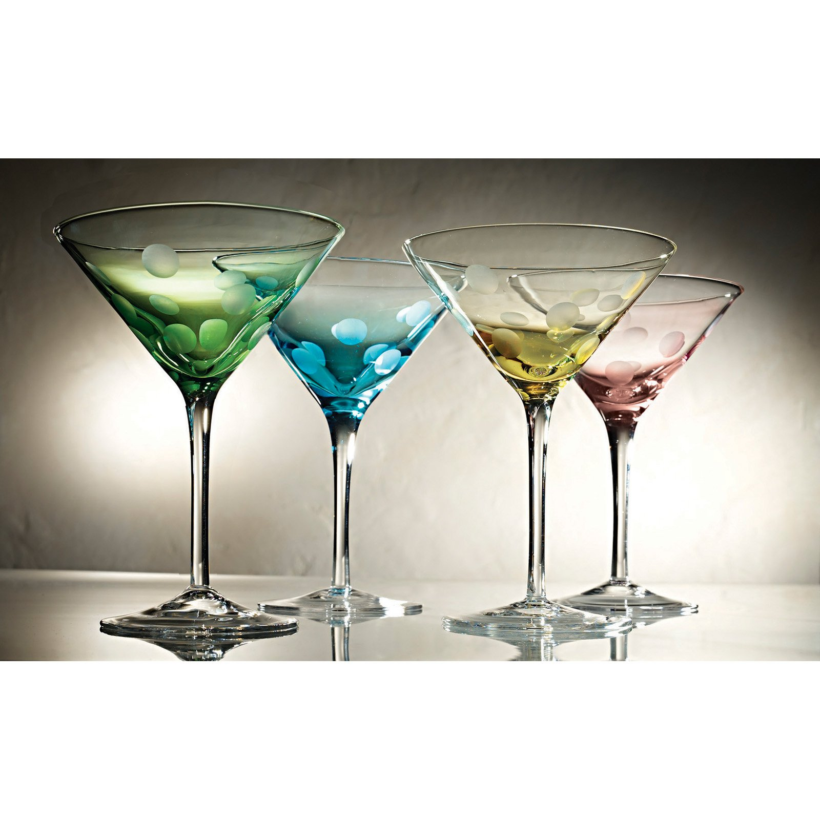 Artland Inc. Polka Dot 8 oz. Martini - Set of 4