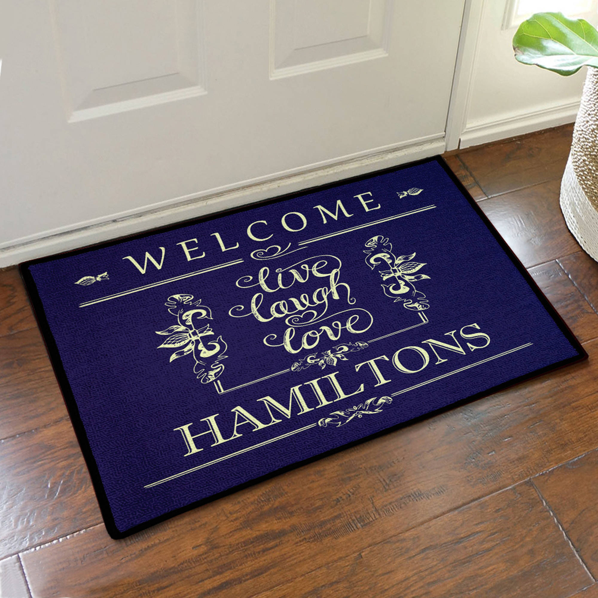 "Live Laugh Love Custom Welcome Doormat, 19.5"" x 15.5"""