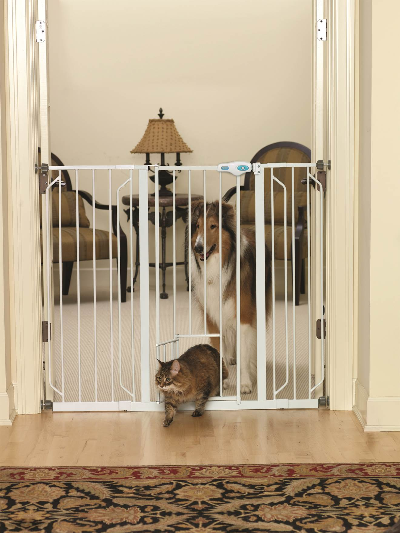 Extra Tall Pet Gate With Pet Door 41 Height Is Great For Large