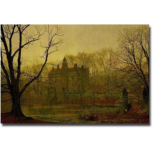 "Trademark Fine Art ""In the Cloaming 1878"" Canvas Wall Art by John Atkinson Grimshaw"