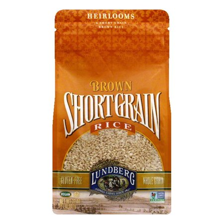 Lundberg Gluten Free Rice Eco-Farmed Short Grain Brown, 32 OZ (Pack of (Best Short Grain Brown Rice)
