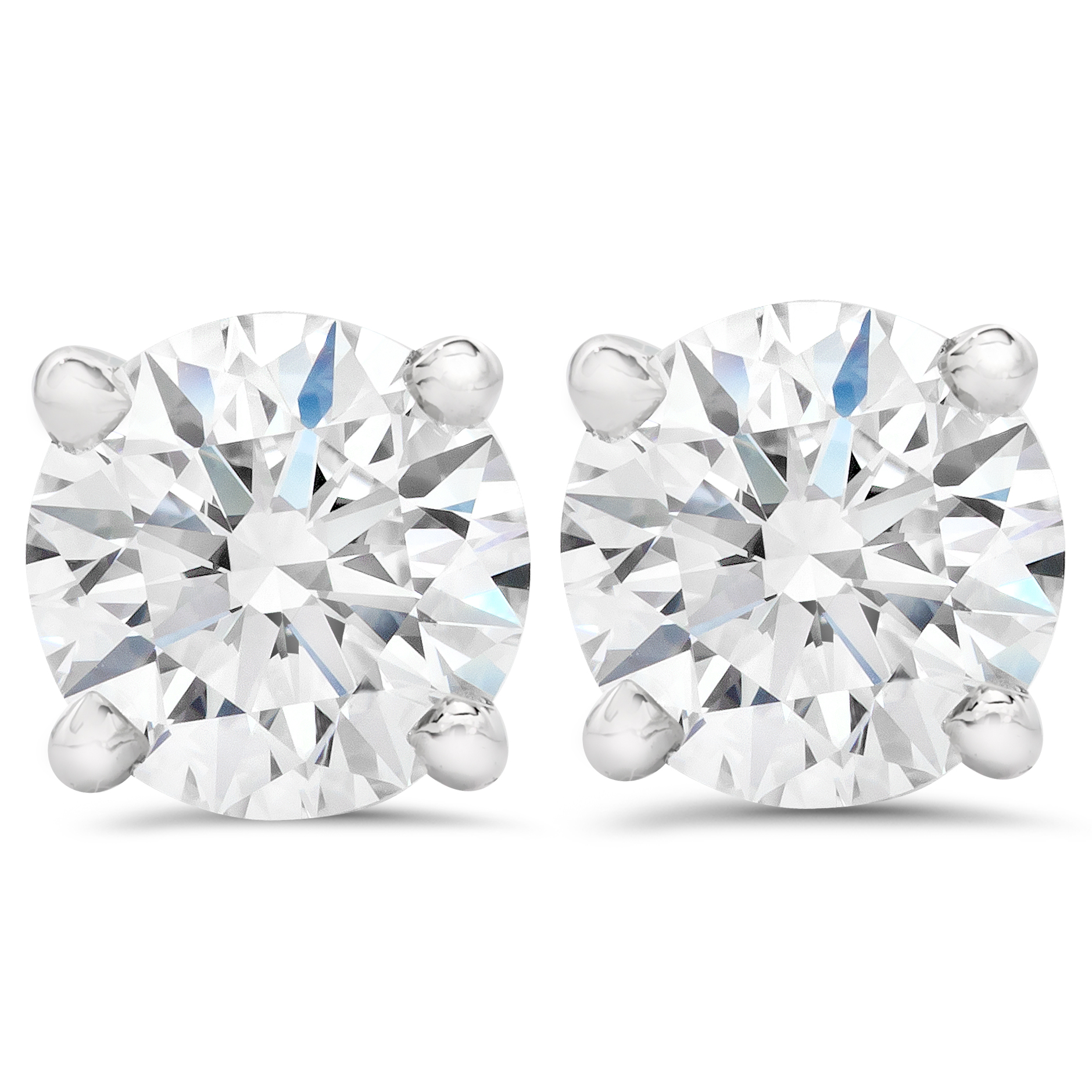 1/2Ct Diamond Studs 14K White Gold