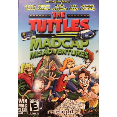 The Tuttles Madcap Misadventures CDRom - Starring Voices of William Shatner, Bob Saget, Jamie Lee Curtis, Ashley Tisdale