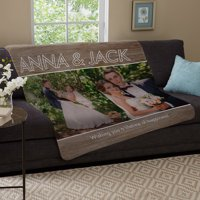 Personalized Message Of Love Photo Plush Blanket