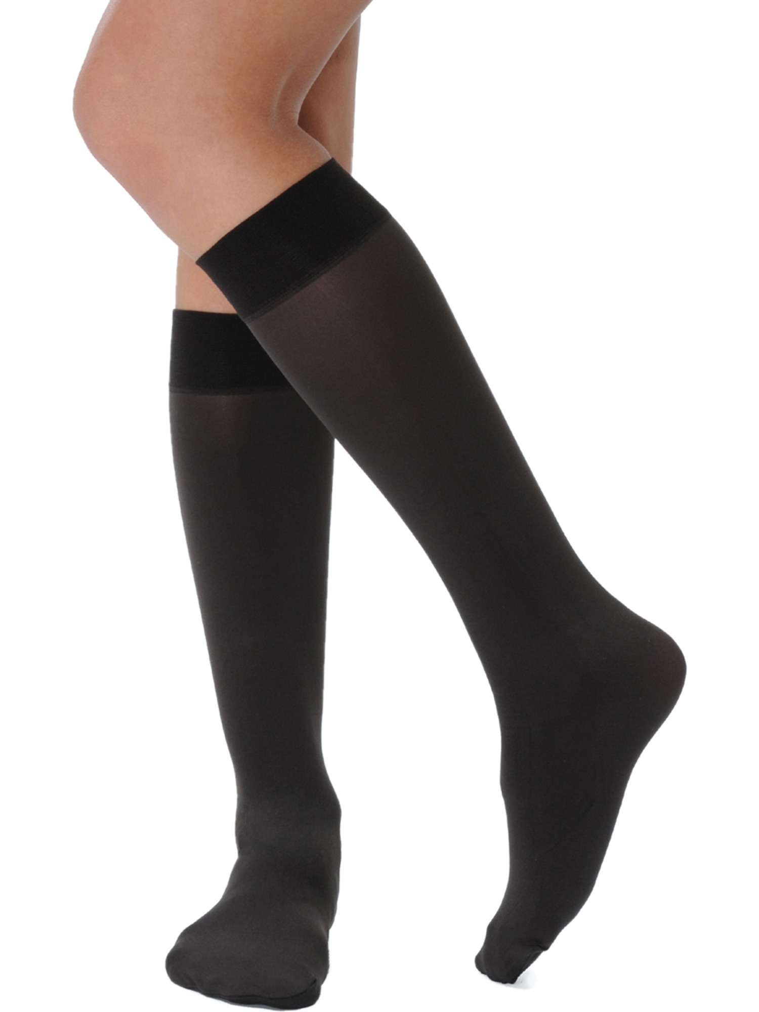 Womens Semi Opaque Trouser Socks Denier Matte Made in Italy 4 Color Options